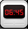 Alarm, Clock, White icon