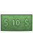 10dollar, Money icon