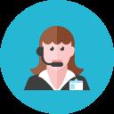 woman, 2, telemarketer icon