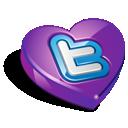 valentine's day, heart, twitter, favorite, bookmark, love icon