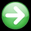 yes, correct, ok, forward, right, next, arrow icon