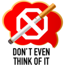 Dont even think of it smoking icon