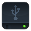 disk,dark,usb icon