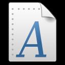 Afm, Font, Gnome, Mime, x icon