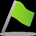 Flag green icon