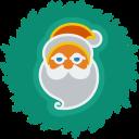 santa, xmas, christmas, wreath icon