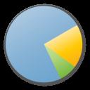 blue, chart, statistics, analytics, pie icon