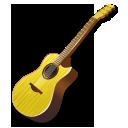 Yellow guitar icon