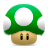 super, up, mushroom, life, one, mario icon