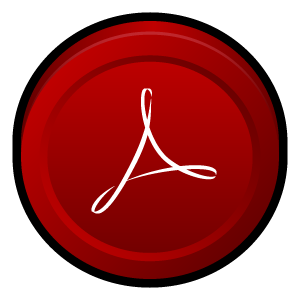 acrobat, adobe, badge, reader icon