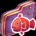 Fishy, Folder, Violet icon