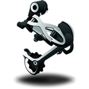 mountain, rear, bike, derailleur icon