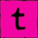 pen, ink, social, tumblr, media icon
