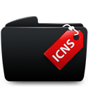 Black, Folder, Icns icon