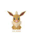 pokemon, kanto, eevee, normal icon