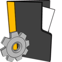folder,settings icon