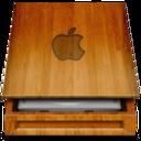 HD wood APPLE icon