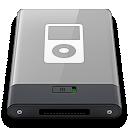 ipod, grey, w icon