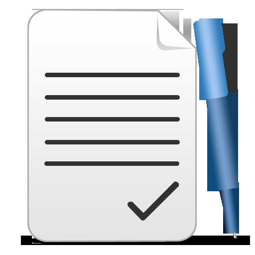 pen, paper icon