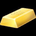 bullion, gold, bar icon