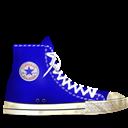 Blue, Converse, Dirty icon