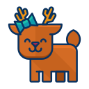 deer, animal, reindeer, happy, forest icon