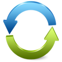 refresh, blue, reload, green, arrows icon