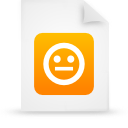 document, orange, paper, file icon