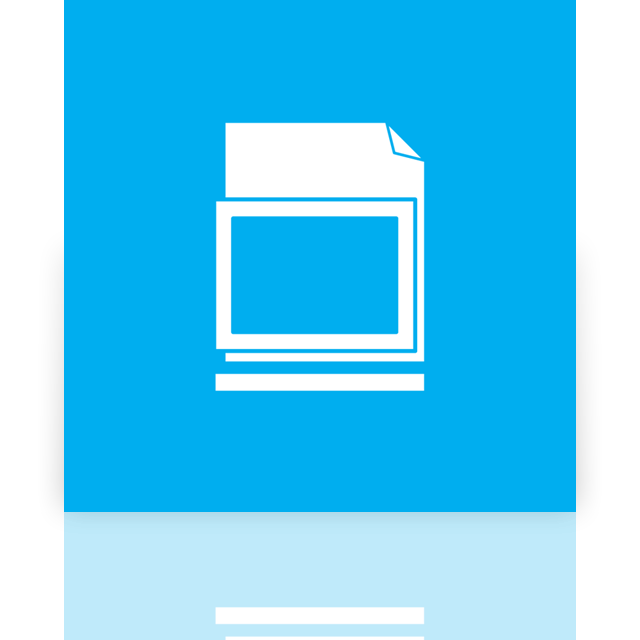 mirror, library, blank icon