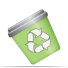 diagram, recycle bin, trash, garbage icon