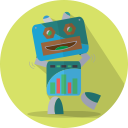 technology, mechanical, android, fun robot, robot expression, robot, mascot, space, robotic, metal icon