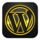 Glow, Neon, Wordpress icon