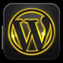 Glow, Neon, Wordpress icon