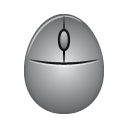 mouse, gray mouse, oval mouse icon