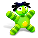 doll, green icon