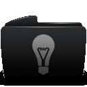 Black, Folder, Idea icon