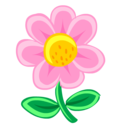 pink,flower,plant icon