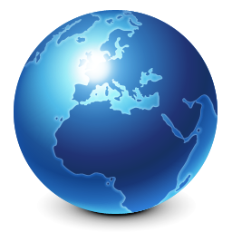 internet, earth, blue, browser, globe, world, planet icon