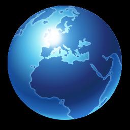 internet, earth, blue, browser, globe, world, planet icon