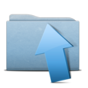 folder,blue,upload icon