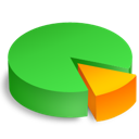 pie, share, statistics, analytics, chart, graph icon