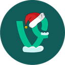 vine, christmas, snow, holiday icon
