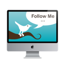 Follow, Mac, Me, Monitor, Screen, Twitter icon