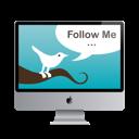 Follow, Mac, Me, Monitor, Screen, Twitter icon