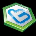 twitter hexa green icon