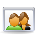 people, users, couple icon