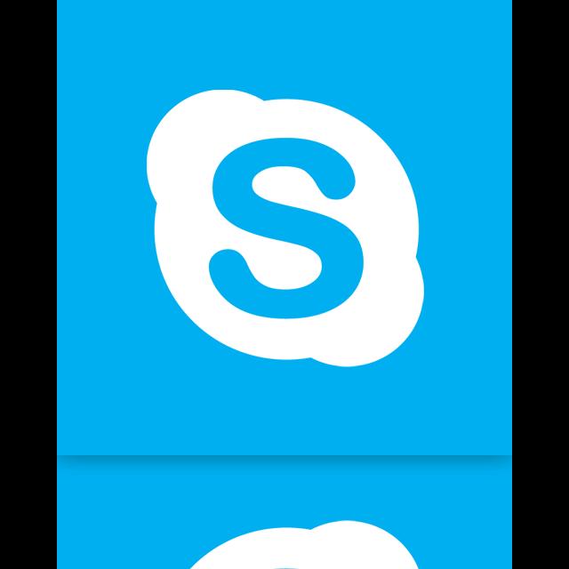 skype, mirror icon