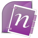 onenote, microsoft, office icon