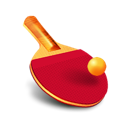 table tennis, racket, ball, ping pong, bat icon