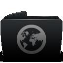 Black, Folder, Sites icon